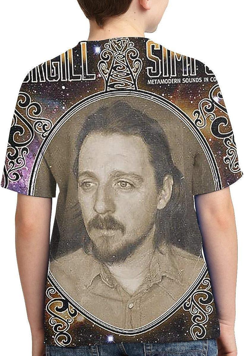 Sturgill Simpson Metamodern Boys Girls 3D Print Short Sleeve Outdoor T-Shirt Shirt Black