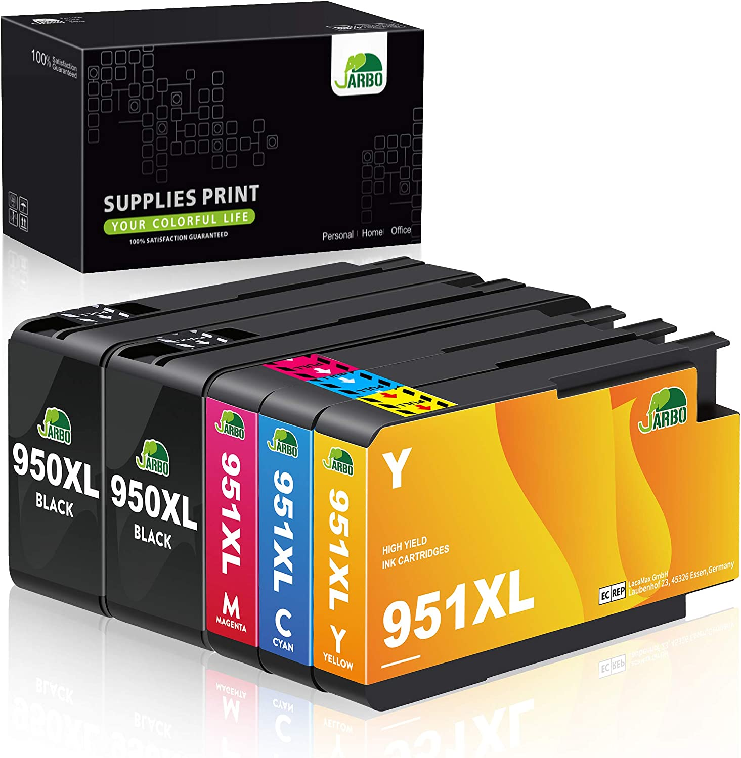 C//M//Y, 3 pk FUZOO 951XL Compatible Ink Cartridges Replacement for HP 951 XL Work with Officejet Pro 8600 8610 8620 8630 8640 8660 8100 8615 8625 276DW 251DW 271DW Printer High Yield