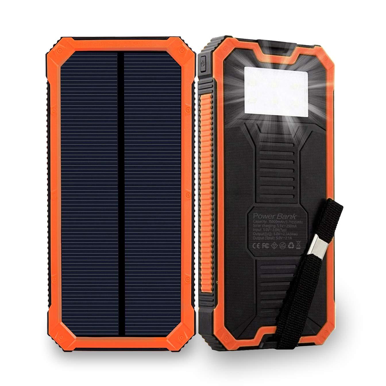 Cargador Solar Portatil Con Bateria De 15000mah Friengood Na