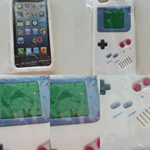 BONAMART White Gameboy Game Boy Soft Silicone Case Back Cover Skin Compatible For iPhone 5 5S 5G