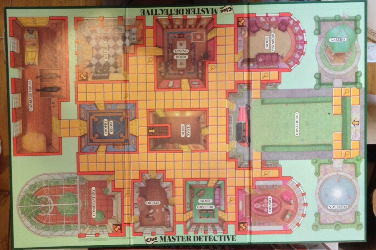 amazon com clue master detective board game toys games