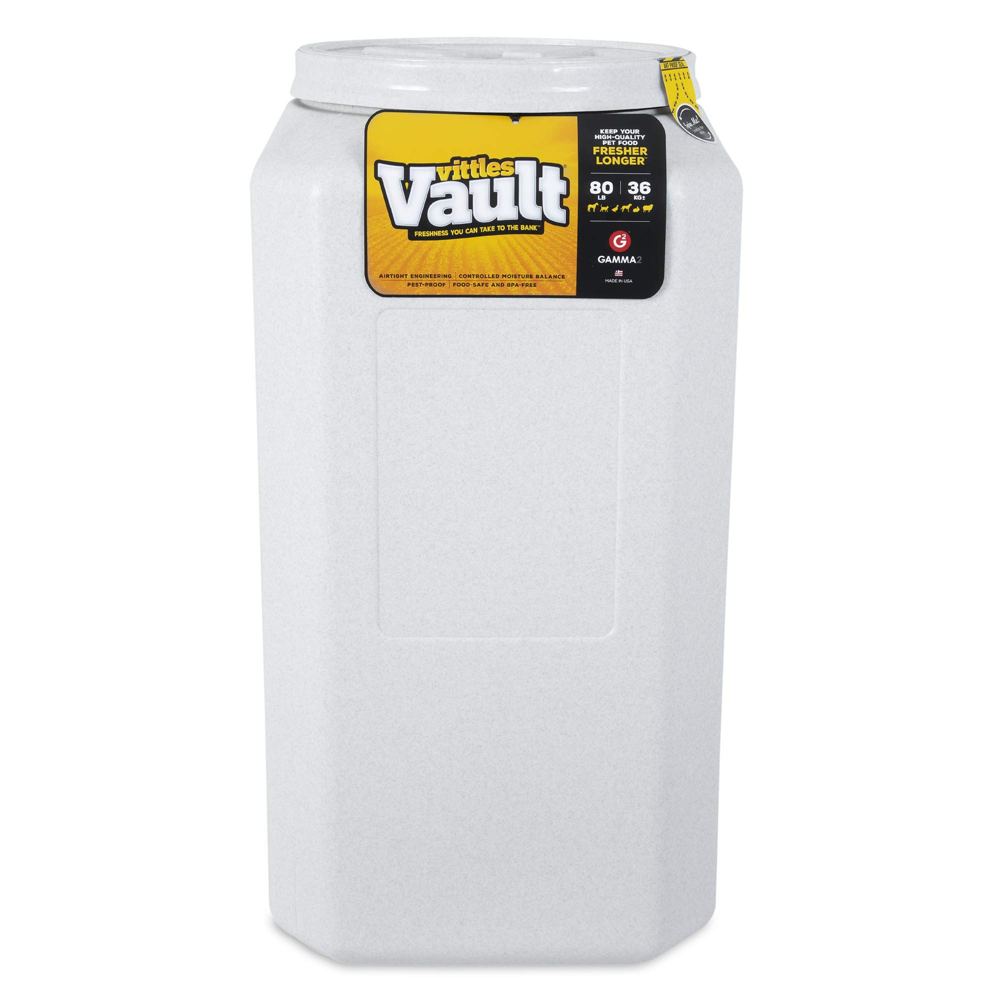 Gamma2 Vittles Vault Outback Airtight Pet Food Container, 80 Pounds