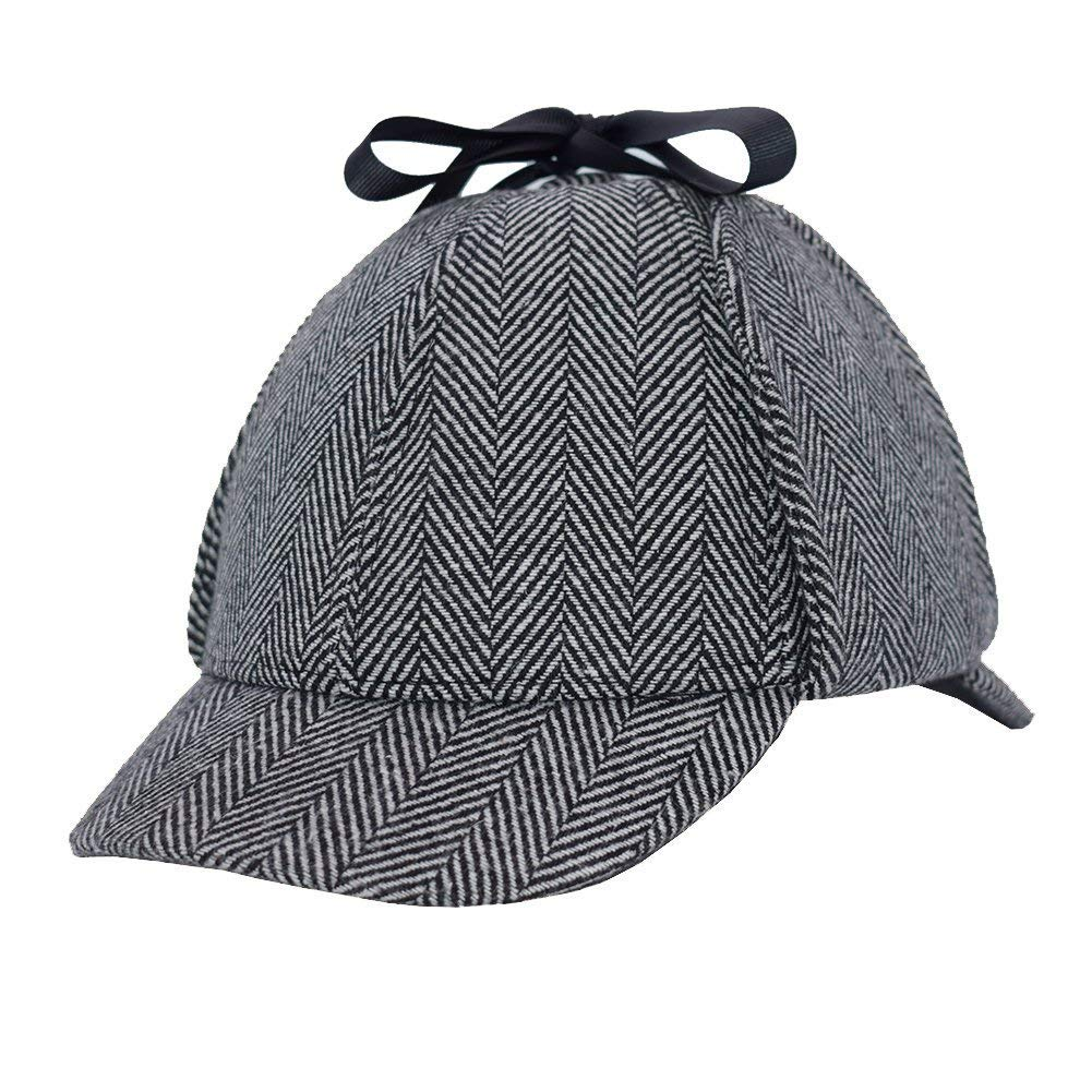Aovei® Unisex Sherlock Holmes Detective Hat Deerstalker (A)
