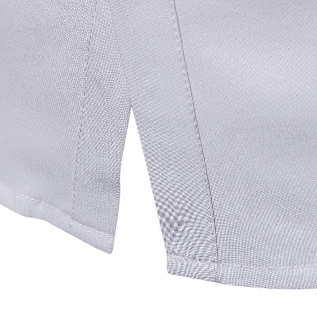 XZDCDJ Mens Spring Casual Slim Fit Shirts Soild Long Sleeve Button Shirt Top Blouse