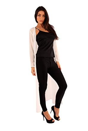 Ladies long Chiffon Jacket Special Occasion Cardigan Evening Party ...