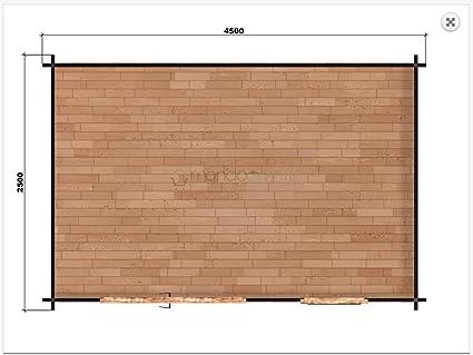 Mondocasette Casa Casa de Madera de jardín - Modelo Ula Grosor Paredes 45 mm 450 x 250 cm, Chalet Bungalow ripostiglio: Amazon.es: Jardín
