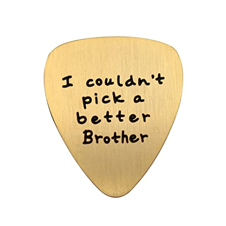 Púa de guitarra para hermano, regalos de cumpleaños, amistad, no ...
