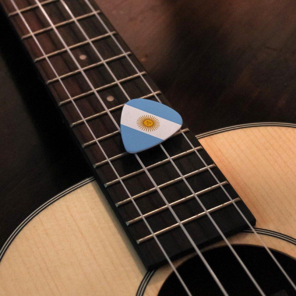 Argentina bandera de país - púas de guitarra de calibre mediano diseño de juego de 6: Amazon.es: Instrumentos musicales