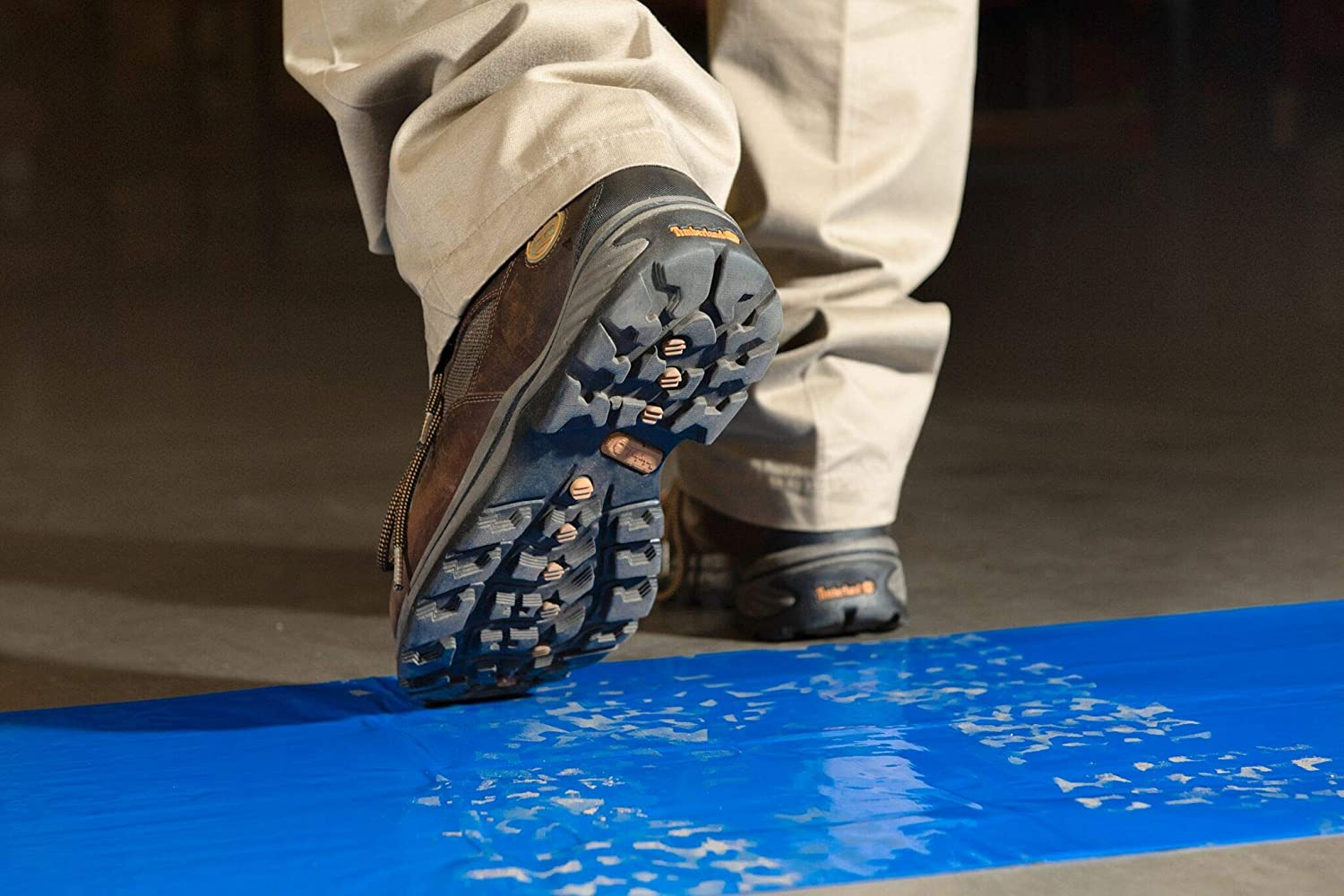 Blue Tacky Film 18 x 36 inches Enviromat Professional Grade Sticky Tacky Floor Protection Mats | Pack of 4 Pads 30 Sheets per Pad