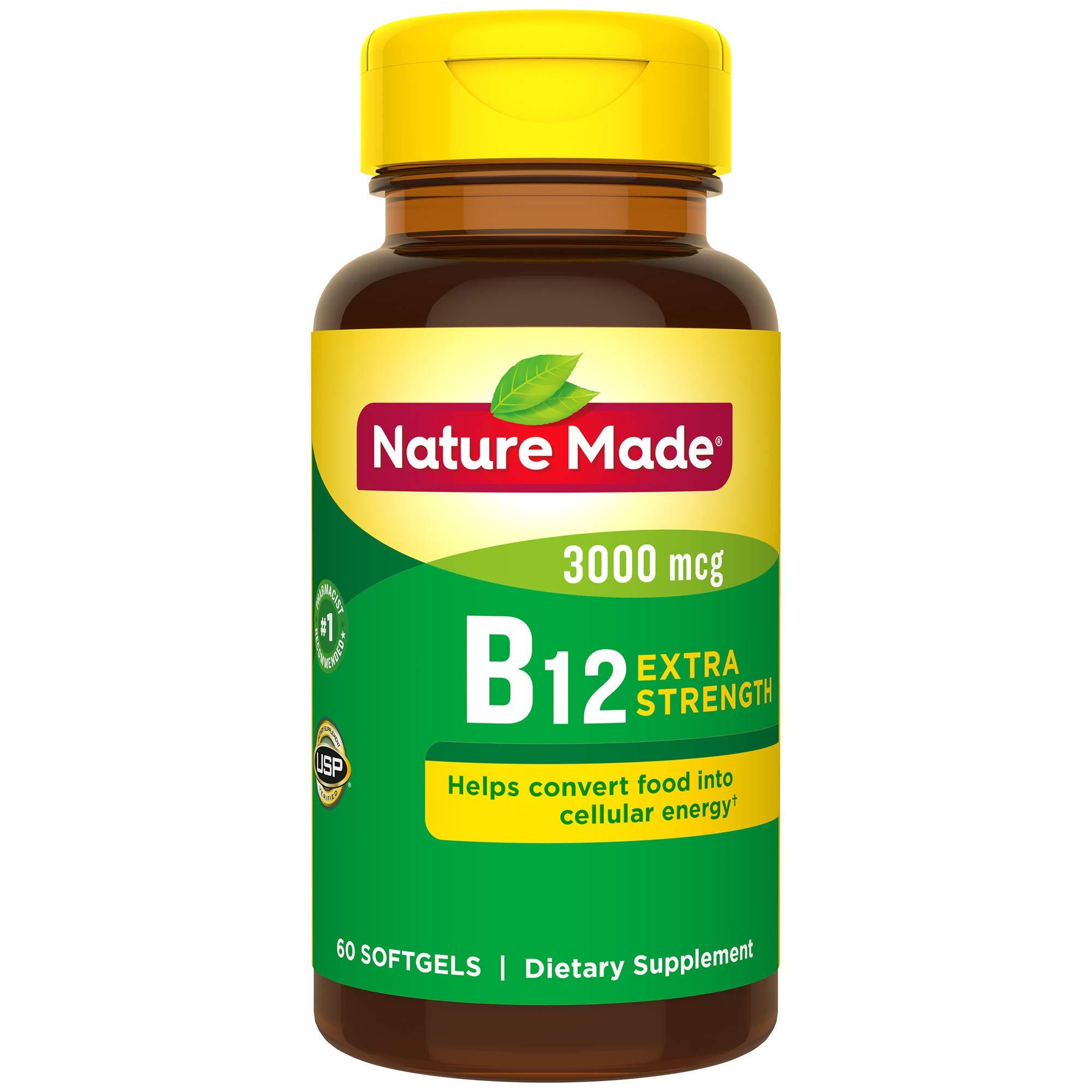 Nature Made Vitamin B12 3000 mcg. Softgels 60 Ct