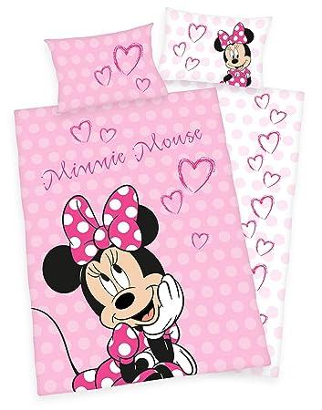Disneys Minnie Mouse Bettwäsche 40x60 100x135cm 100 Baumwolle Mit