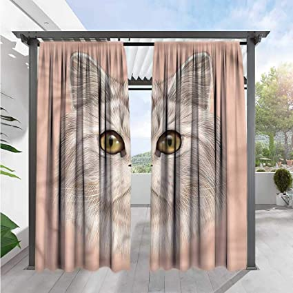 Amazon.com: Cortinas para exterior de gato marilds con ...