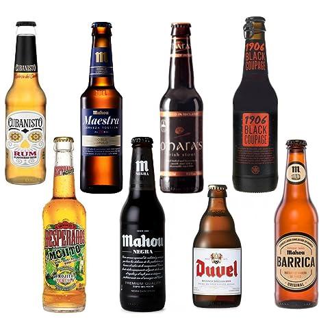 Cervezas Especiales y Cervezas Internacionales Pack de 8 - Cubanisto cerveza, Desperados Mojito, Mahou