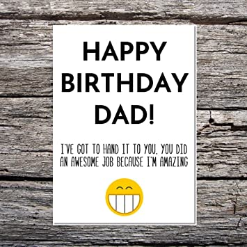 Funny AF Cards Luxury A5 Hammer Card Birthday Dad From Son Daughter Hand It To You Im Amazing Amazonca Office Products