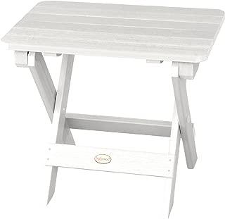 product image for Highwood Folding Adirondack Side Table, White