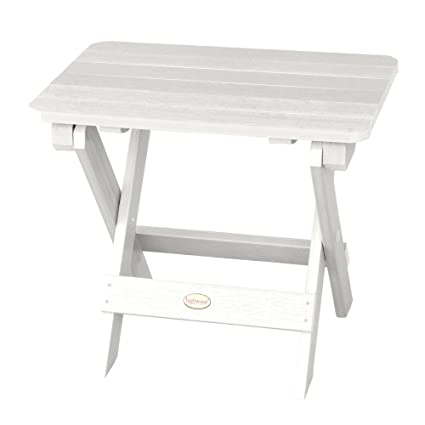 new styles cd83e 66952 Highwood Folding Adirondack Side Table, White