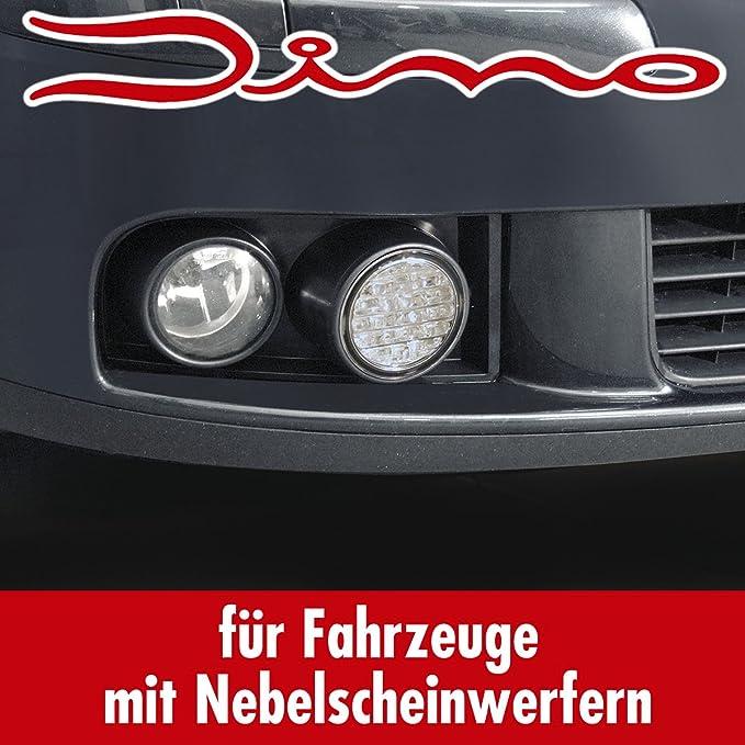 Dino 610851 Tagfahrlicht Grilleinsätzen Ece R87 Led Geeignet Für Vw Golf 5 Fahrzeuge Mit Serien Nebellicht Typ 1k Auto