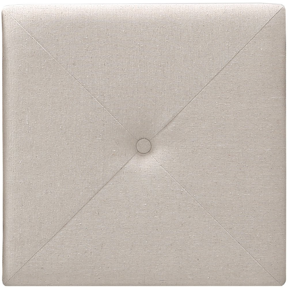 Foremost Tessa THT-61013-FB-LIN-KNG 77.5-Inch by 31-Inch Natural Linen with X Seam and Tuft Headboard Tiles, King