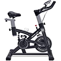 iDeer Life Stationary Exercise Bike with Hand Pulse Sensor and LCD Display (Black)