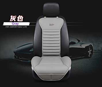 EDEALYN New Universal Car Seat Cover PU Leather Bamboo Charcoal Cushion