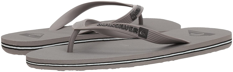 Quiksilver Grau/Grau/Grau, Men's Molokai Sandale, Grau/Grau/Grau, Quiksilver 6 M US - 248601