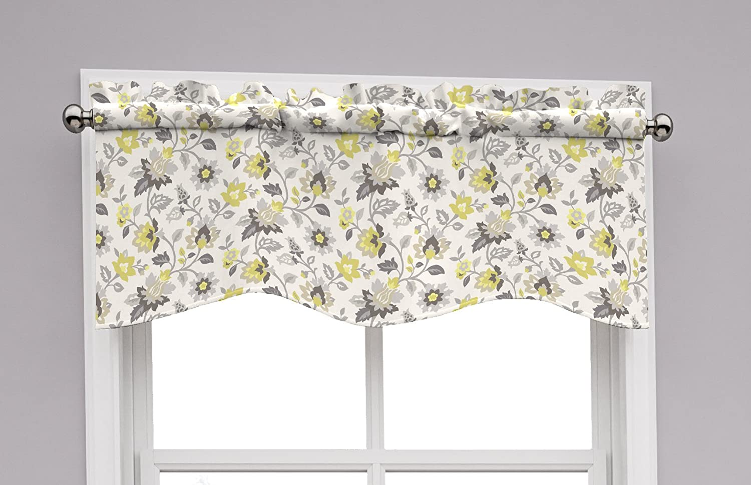 Traditions by Waverly 14968052016SLG Set In Spring 52-Inch by 16-Inch Wave Window Valance, Sterling