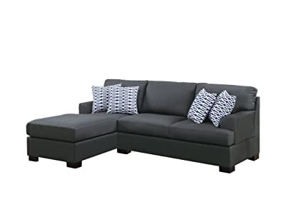 Tremendous Amazon Com Poundex Bobkona Roman Microfiber 3 Seat Dailytribune Chair Design For Home Dailytribuneorg