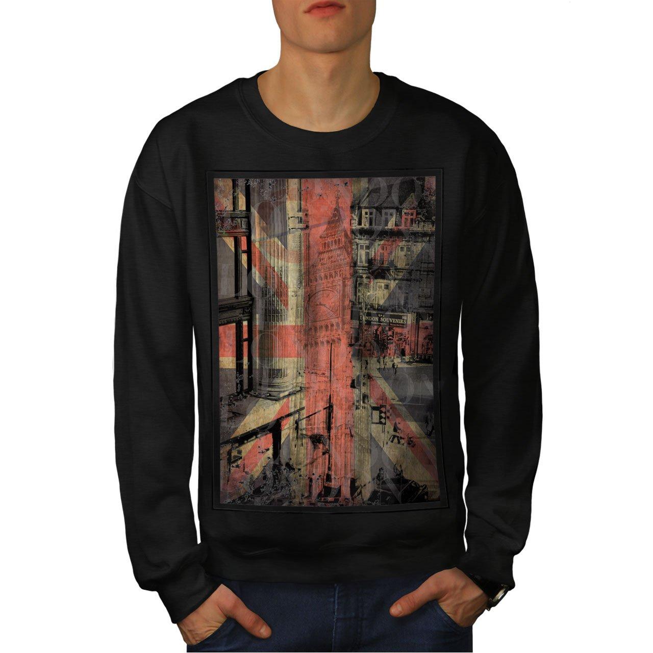 wellcoda London City England Mens Sweatshirt Capital Casual Jumper