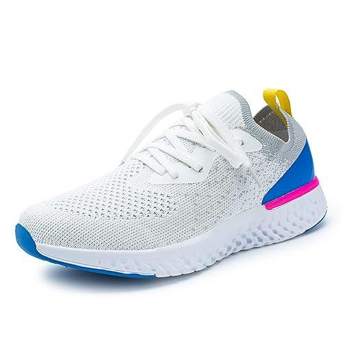 Kauson Popular Zapatillas Running para Mujer Aire Libre y Deporte Transpirables Casual Zapatos Gimnasio Correr Ligero
