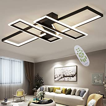 Led Ceiling Light Modern Living Room Light Chandelier Dimmable 94w Creative Aluminum Acrylic Design Lamp Ceiling Fixture Illumination Living Room Lights Bedroom Lights Study Office Ceiling Light Lamp Amazon Co Uk Lighting