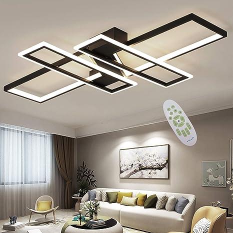 LED Deckenleuchte Modern Wohnzimmer Licht Pendelleuchte Dimmbar 94W  Creative Aluminium Acryl Design Lampe Decke Fixture Beleuchtung  Wohnzimmerlampe ...