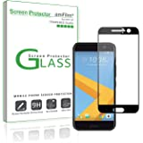 HTC 10 Screen Protector Glass (Full Coverage), amFilm Dot Matrix Tempered Glass Screen Protector Edge to Edge for HTC 10 with Lifetime Replacement Warranty (1-Pack) [in Retail Packaging]