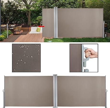 ALU-Seitenmarkise Markise Sonnenschutz Windschutz Balk Terrasse UV 180*300 cm