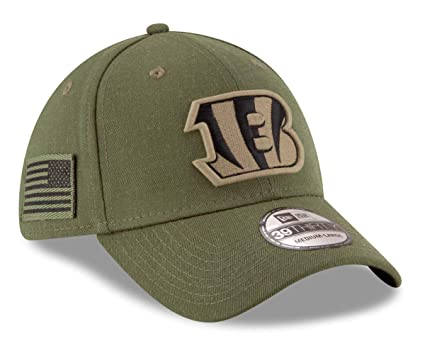 580a9cdc8 Image Unavailable. Image not available for. Color  New Era Cincinnati  Bengals NFL 39THIRTY 2018 Sideline Salute to Service Hat