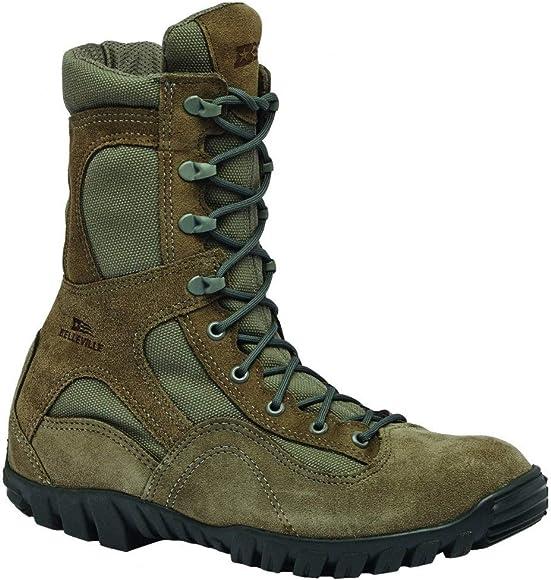 bf825cb9000 Mens Waterproof Assualt Flight Work/Duty Boots Green