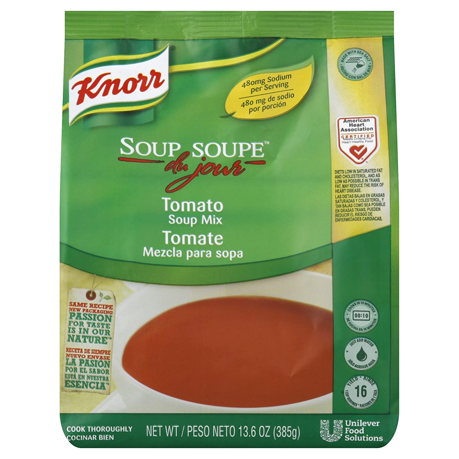 Amazon.com : Knorr Soup du Jour Mix Tomato Soup 13.6 oz, Pack of 4 : Grocery & Gourmet Food