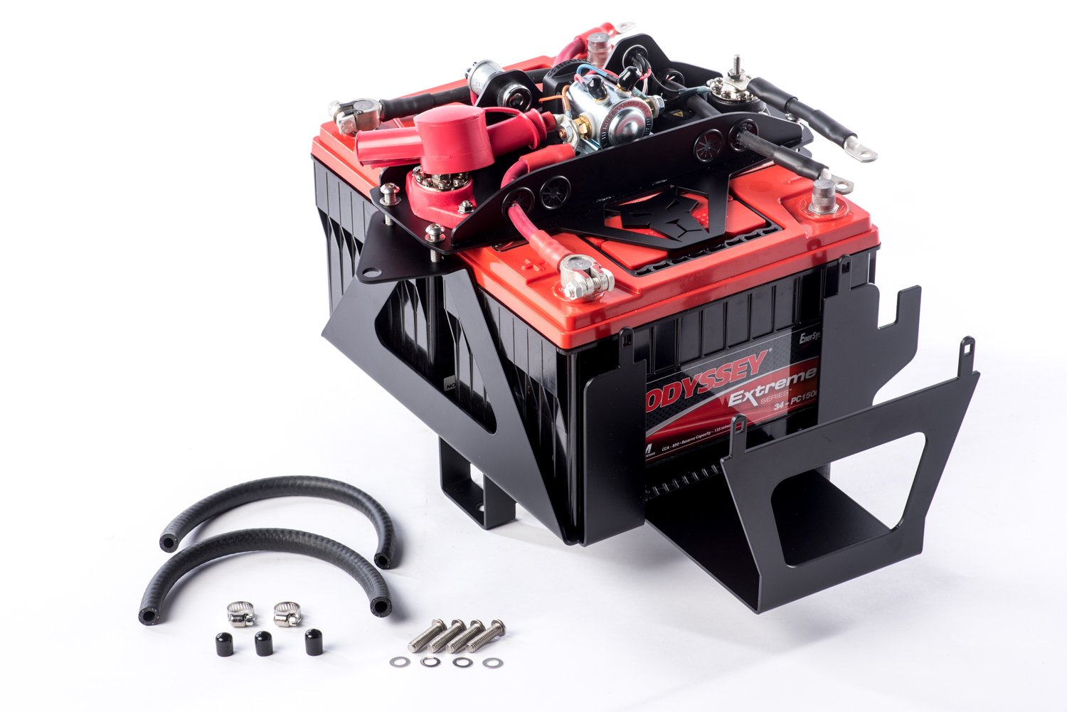 Genesis Offroad Jeep JK Dual Battery Kit with 200 AMP Isolator and Extension for 2007-2011 by Genesis Offroad