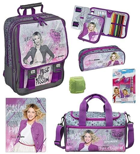 Disney Violetta grande Mochila Escolar (9 piezas). Bolsa de ...