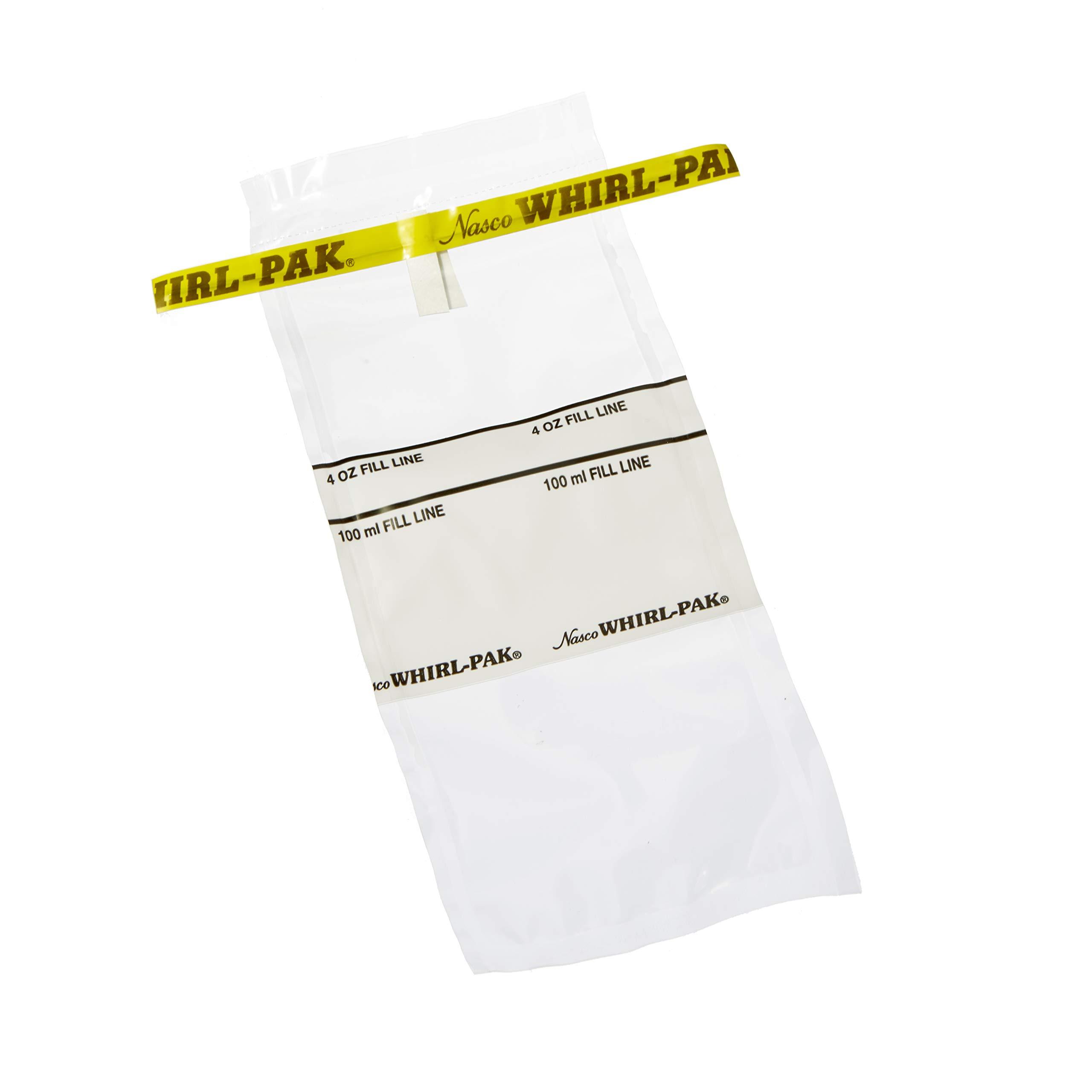 Nasco Whirl-Pak B01062WA Write-On Bag, 7.5cm L x 18.5cm W, 0.057mm Thickness, 118ml Capacity (Box of 500)