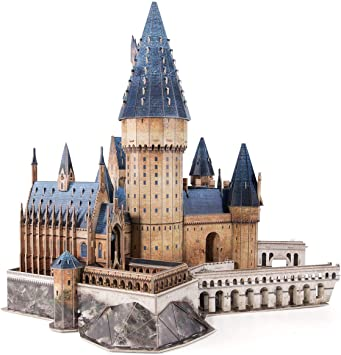 CubicFun Puzzle 3D Harry Potter Hogwarts Gran Salón Maquetas para Montar Kit de Construcción Puzzles 3D Souvenir Regalo para Adolescentes y Adultos, 187 Piezas Versión Grande: Amazon.es: Juguetes y juegos