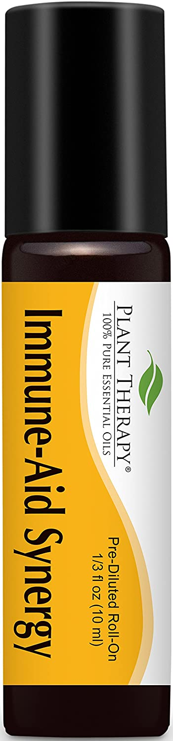 Immune-Aid Synergy Pre-Diluted Essential Oil Roll-On 10 ml (1/3 fl oz). Ready to use! Plant Therapy Essential Oils
