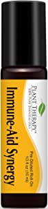 Plant Therapy Immune Aid Synergy Essential Oil 10 mL (1/3) Pre-Diluted Roll-On 100% Pure, Therapeutic Grade