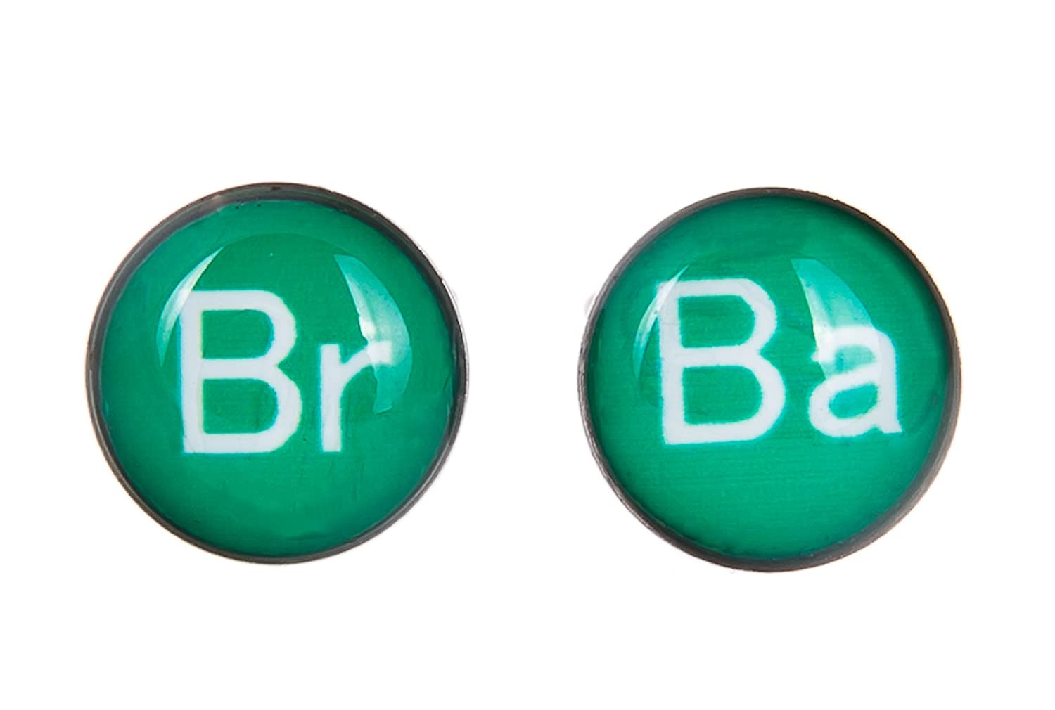 Amazon tv show inspired br ba periodic table symbols 8mm amazon tv show inspired br ba periodic table symbols 8mm stainless steel stud earrings jewelry urtaz Image collections