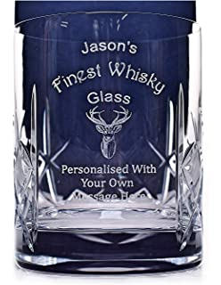 b2920d13d3d Engraved/Personalised *Finest Whisky Design* Crystal Glass Tumbler Gift  Boxed
