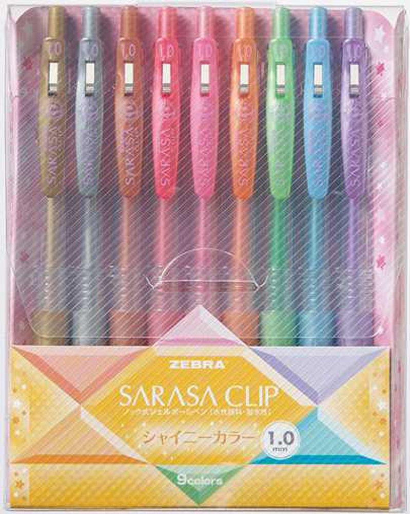 Zebra Sarasa JJE15-9C 1.0mm Gel Ink Pen (9 Colors)