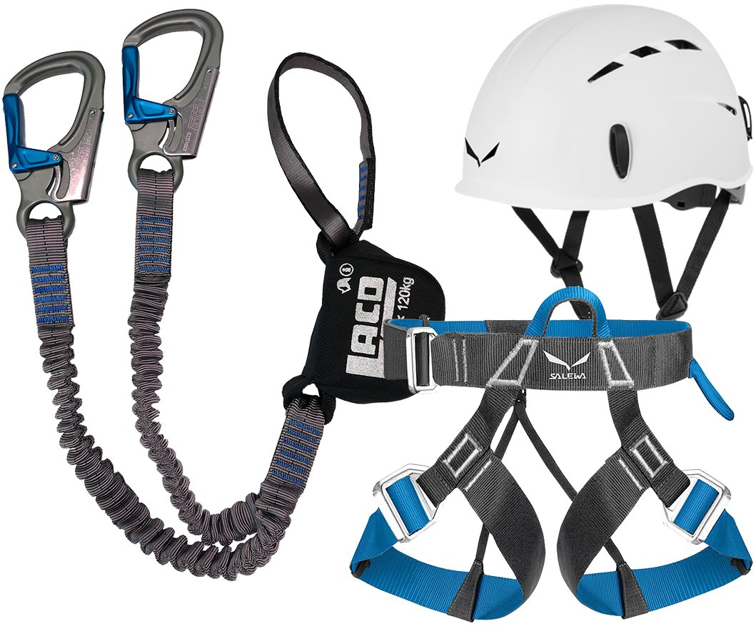 LACD set pro evo salewa toxo &sangle ferrataLite casque