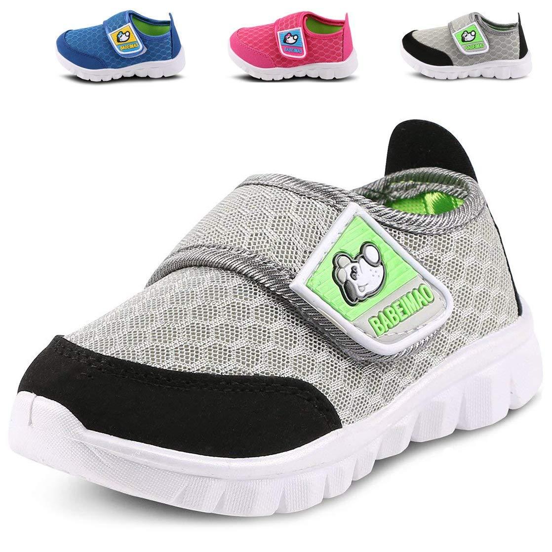 Femizee Toddler Boys Girls Lightweight Mesh Sneakers Kids Athletic Running Shoes