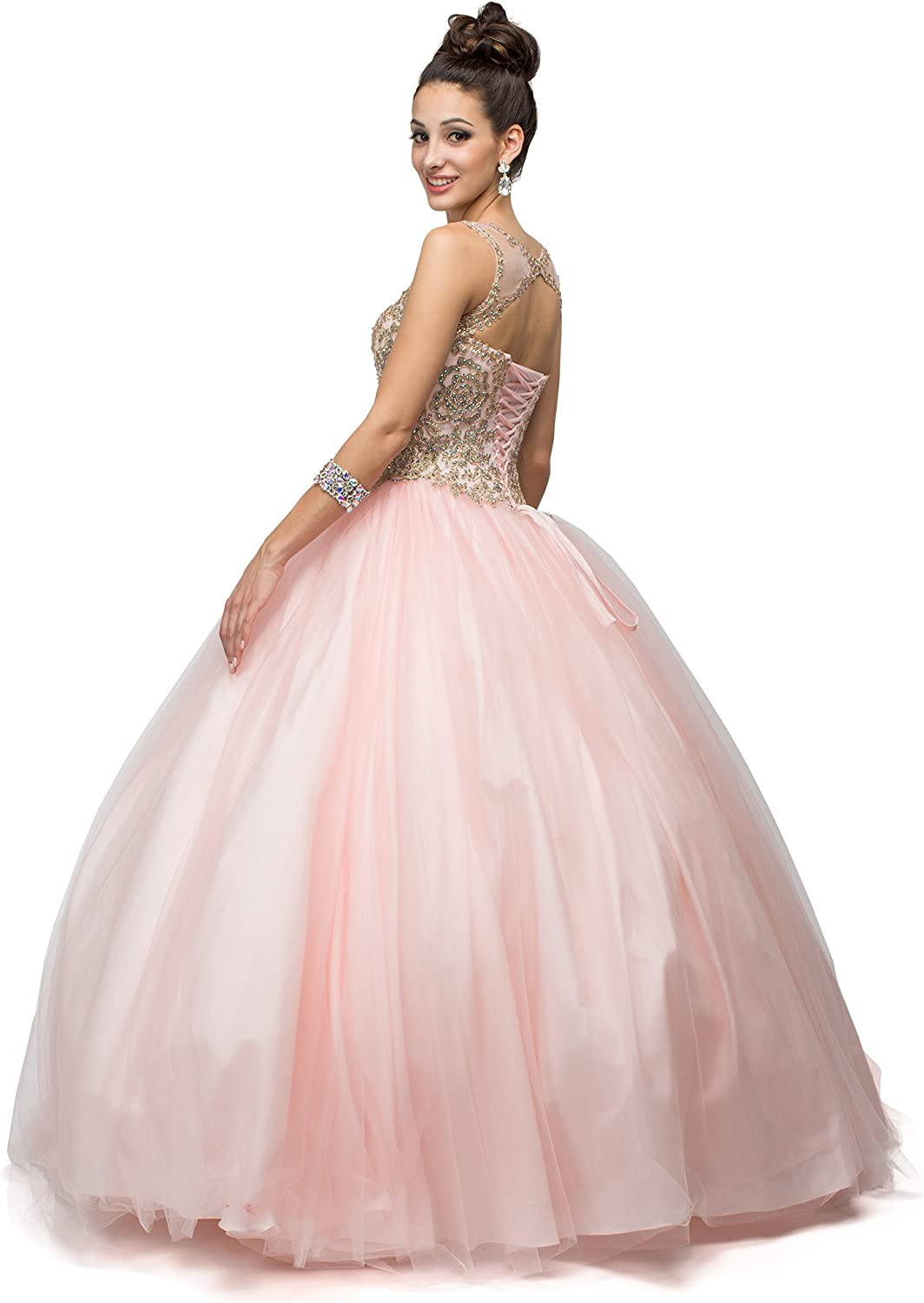 Amazon Com Dancing Queen Women S Gorgeous Blush Embroidered Quinceanera Dress Ladies Wedding Evening Party Pretty Ball Gown Princess Dresses Long Sleeveless Uk Clothing,Miami Wedding Dress