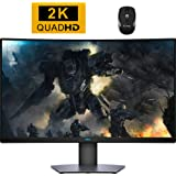 2020 Premium Dell 32 inch QHD (2560 x 1440) 165Hz 4ms Response time Curved Screen FreeSync Monitor with HDR + iCarp Wireless
