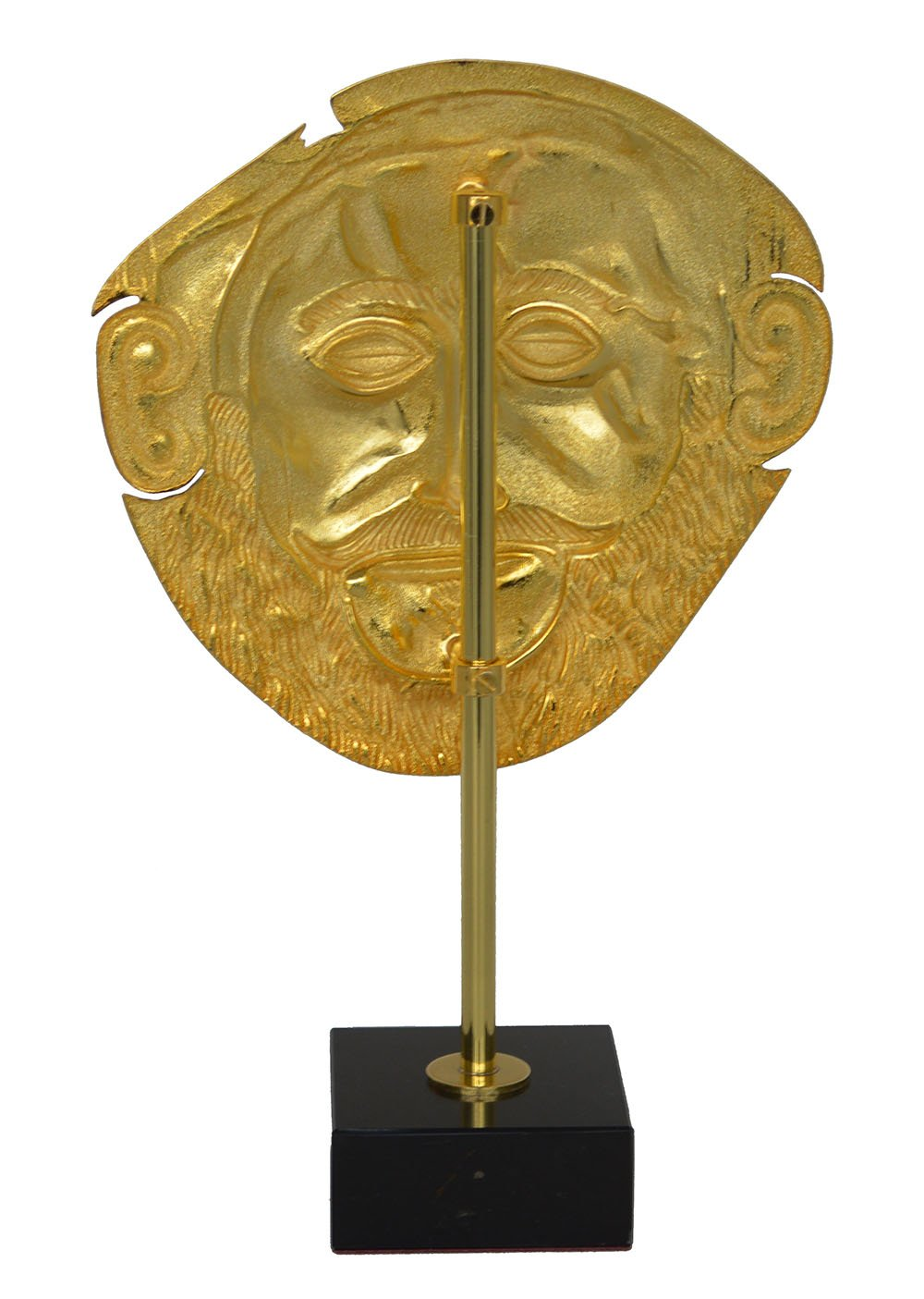 Máscara de agamemno chapada en oro, máscara de reproducción de Micenaean King Funeral de Talos ArtiFaces.: Amazon.es: Hogar
